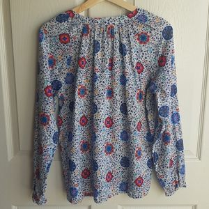 Boden Tops - Boden Blue Pink Gauzy Boho Peasant Top Size 6